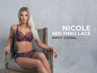 Nicole See-Thru Lace – Navy Coral