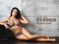 Carmen Polka-Dot – Taupe
