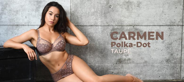 Carmen Pola-Dot – Taupe